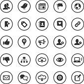 Circle Icons Set | Social Media