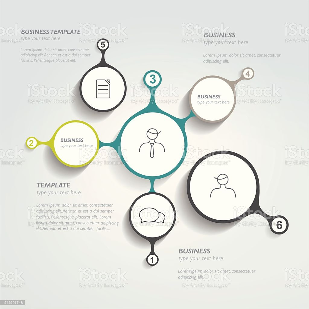 Circle infographic chart. Vector template. vector art illustration