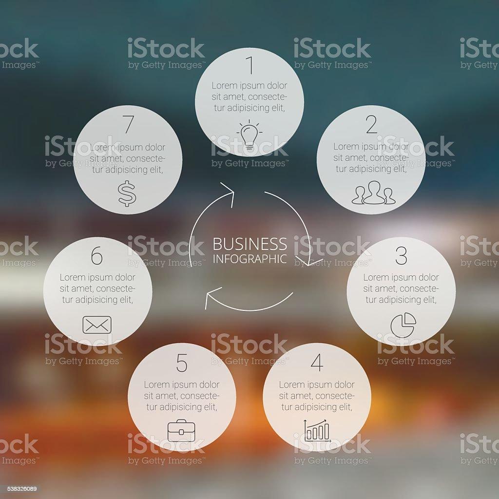 Circle infographic, diagram, graph, presentation, chart. vector art illustration