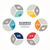 Circle infographic, diagram, presentation, graph