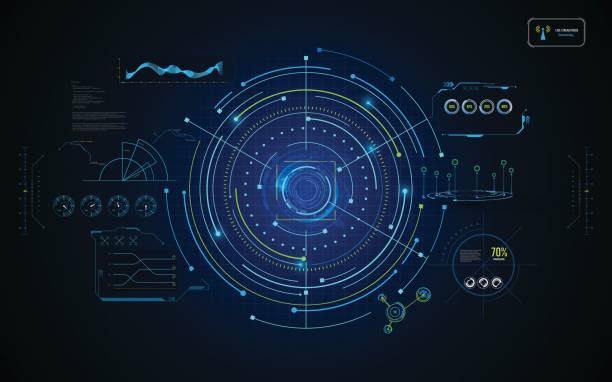 Kreis Infografik hud gui Schnittstelle Design futuristisches Konzept Vorlage-Hintergrund – Vektorgrafik
