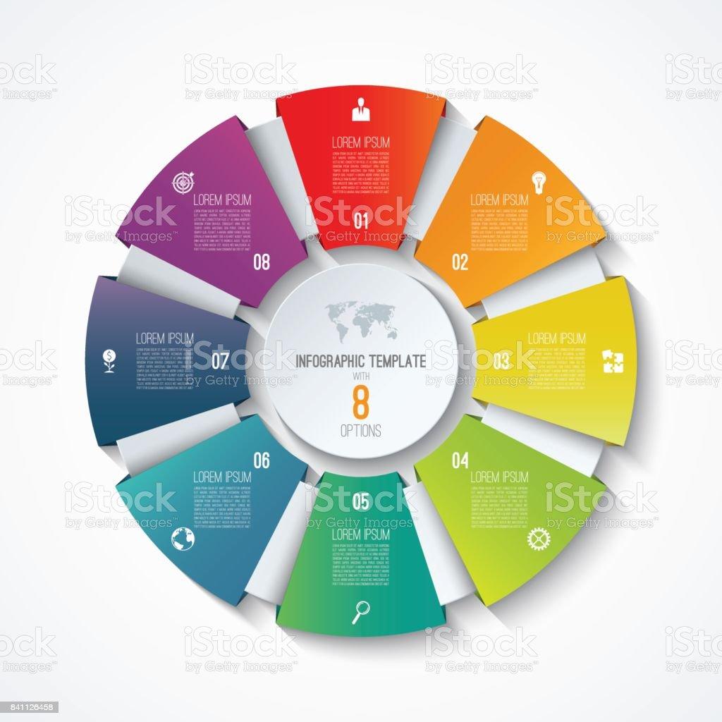 Circle infographic template process wheel vector pie chart circle infographic template process wheel vector pie chart business concept with 8 options nvjuhfo Choice Image