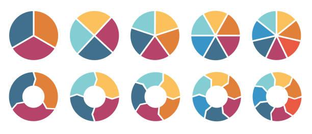 ilustraciones, imágenes clip art, dibujos animados e iconos de stock de infografía de círculo - social media
