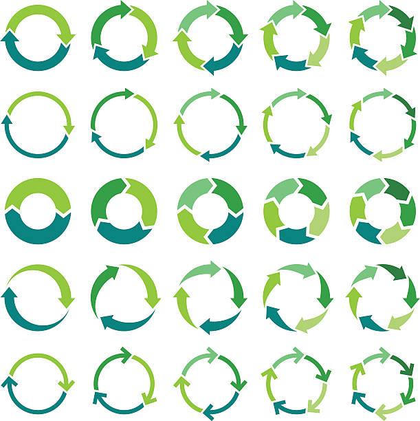 ilustrações, clipart, desenhos animados e ícones de circle infográfico - dois objetos