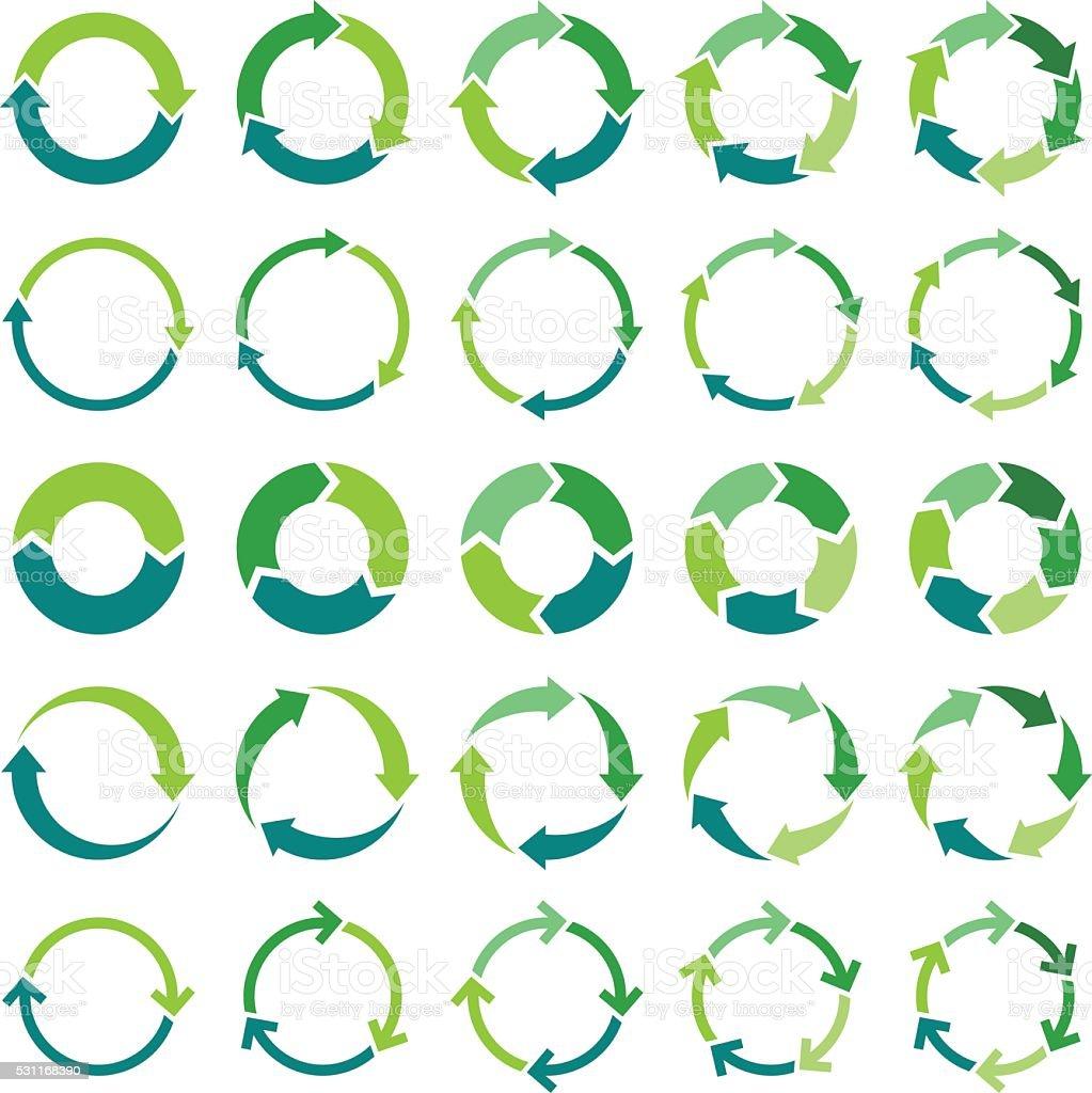 Círculo infografía - ilustración de arte vectorial