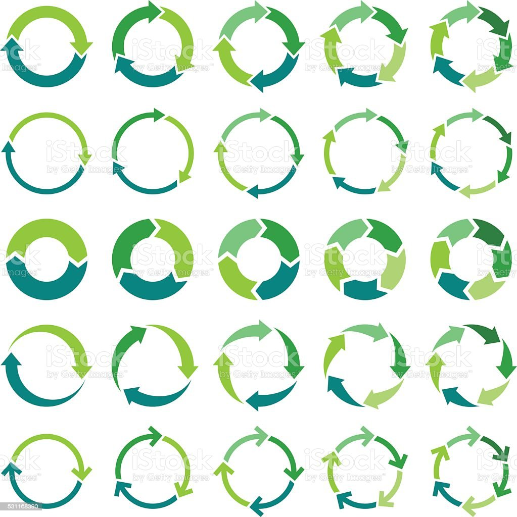 Circle infographic向量藝術插圖