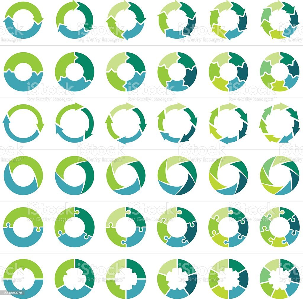 Circle infographic vector art illustration