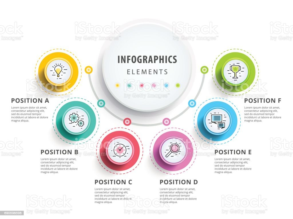 Circle infographics elements design. Abstract business workflow royalty-free circle infographics elements design abstract business workflow stock illustration - download image now
