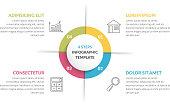 Circle Infographics - Four Elements