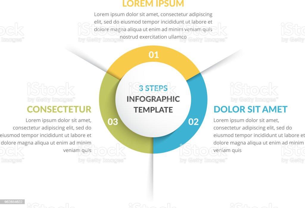 Circle Infographics - Three Elements векторная иллюстрация