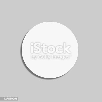 istock Circle Label Blank Sticker 1127889598