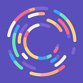 istock Circle Loading Round Abstract Background 1158864992