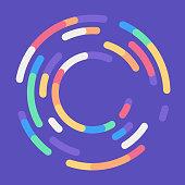 Circle target spiral round design element round loading.