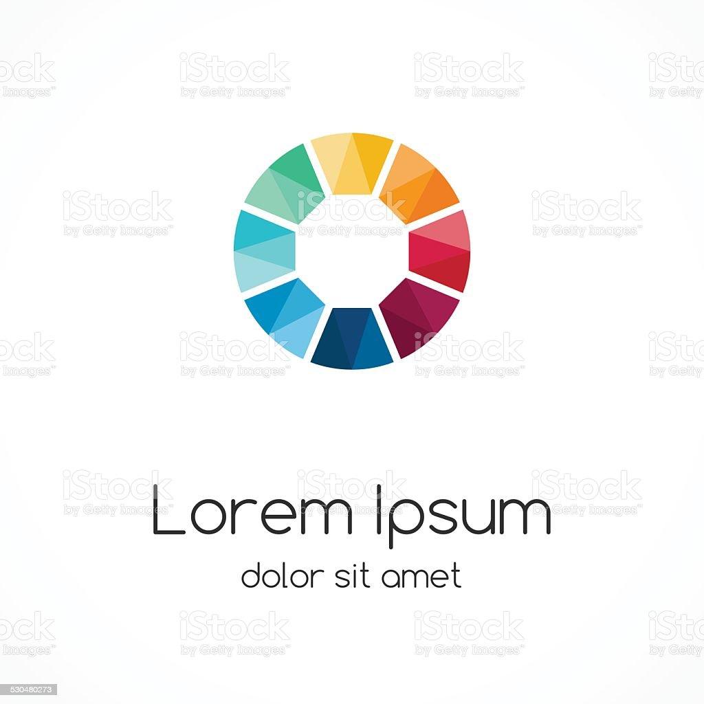 Circle logo template. Abstract sign, symbol. vector art illustration