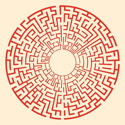 Solvable circular puzzle maze.