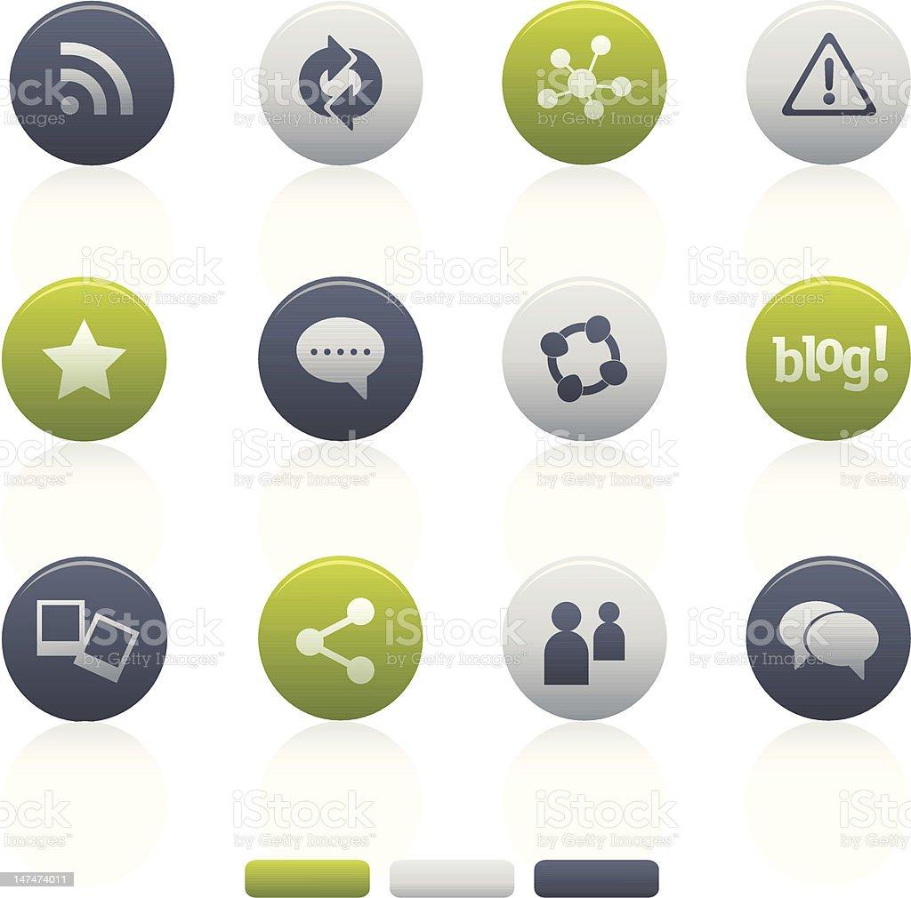 Circle Mixed Social Media Icons royalty-free circle mixed social media icons stock vector art & more images of adulation