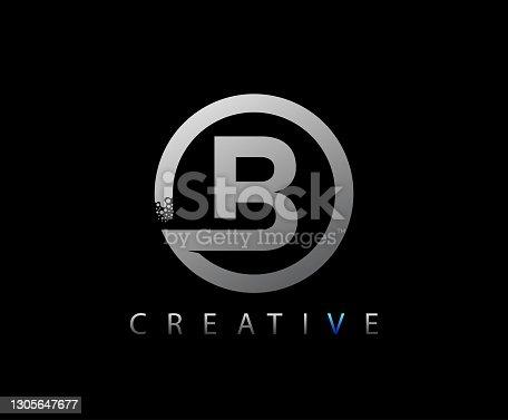 istock Circle Network B Letter Logo Design. 1305647677