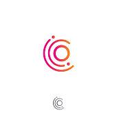 Circle o letter vector concept design.  Vector illustration EPS.8 EPS.10