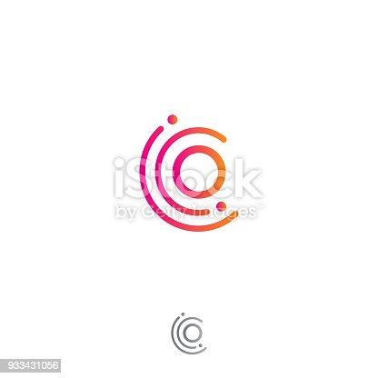 istock Circle o letter vector concept design 933431056