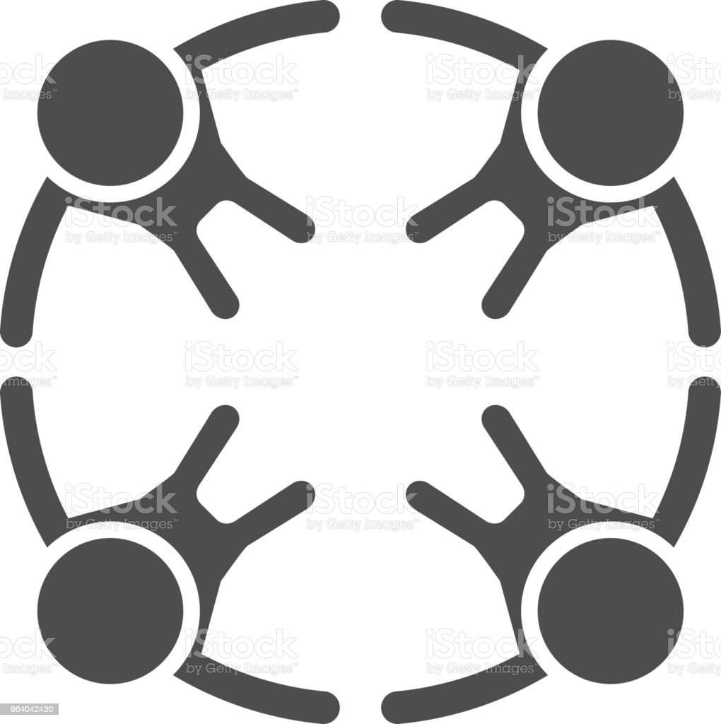 circle of black people - Royalty-free Adult stock vector