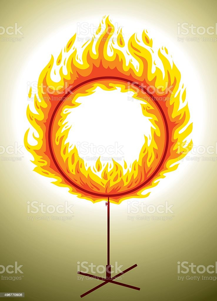 Circle Of Fire vector art illustration