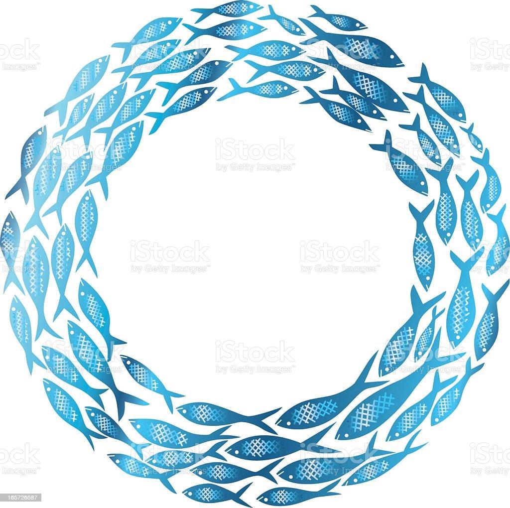 Kreis Des Lebens Fisch Stock Vektor Art und mehr Bilder von Blau ...