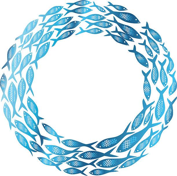 Cercle de la vie: Poisson - Illustration vectorielle