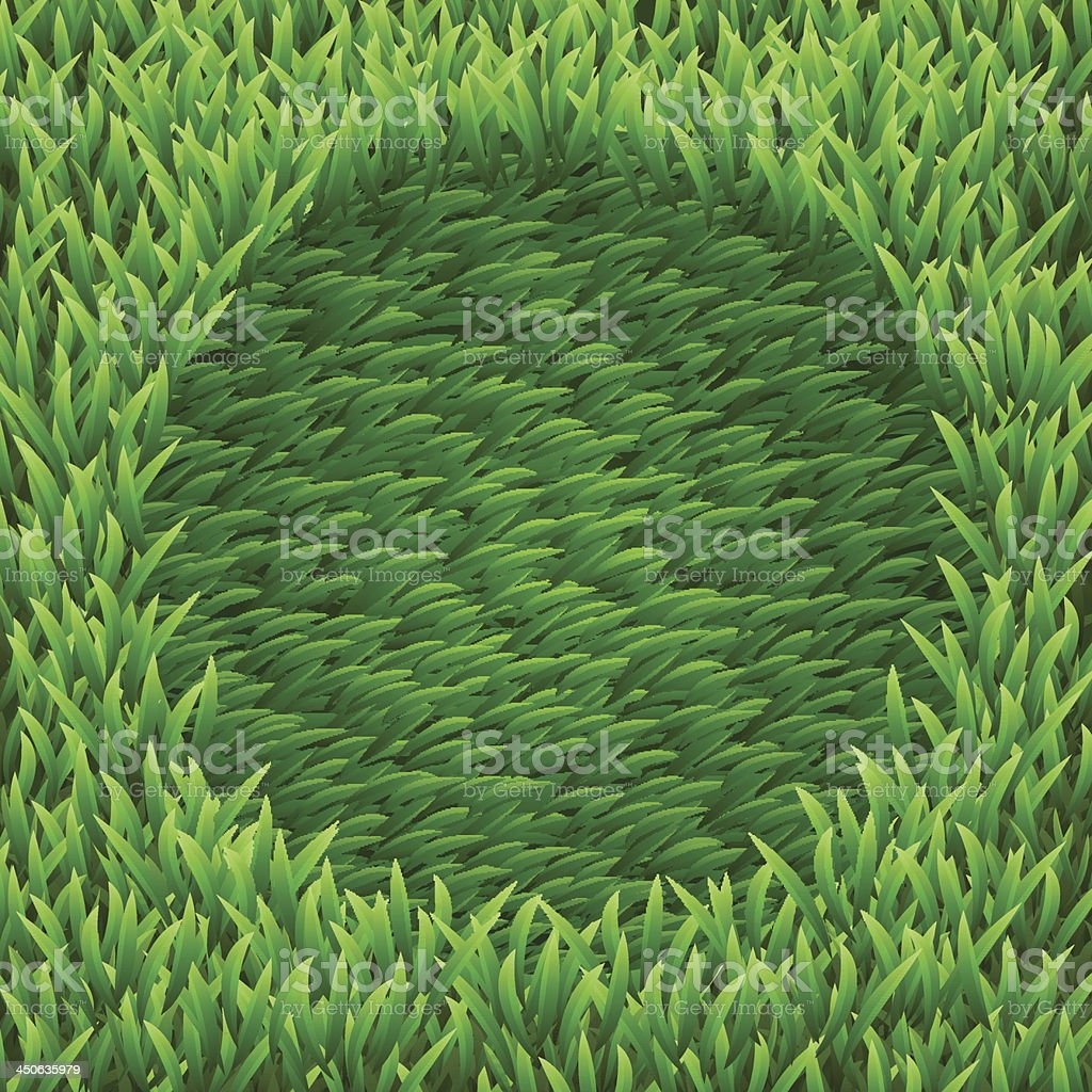Circle on green grass royalty-free stock vector art