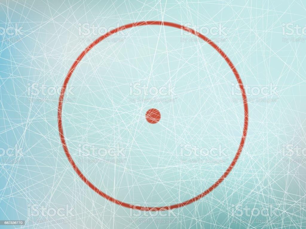 Circle on hockey rink vector art illustration