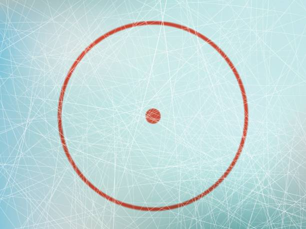 ilustrações, clipart, desenhos animados e ícones de círculo na pista de hockey - hóquei