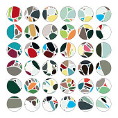 Circle pattern buttons collection