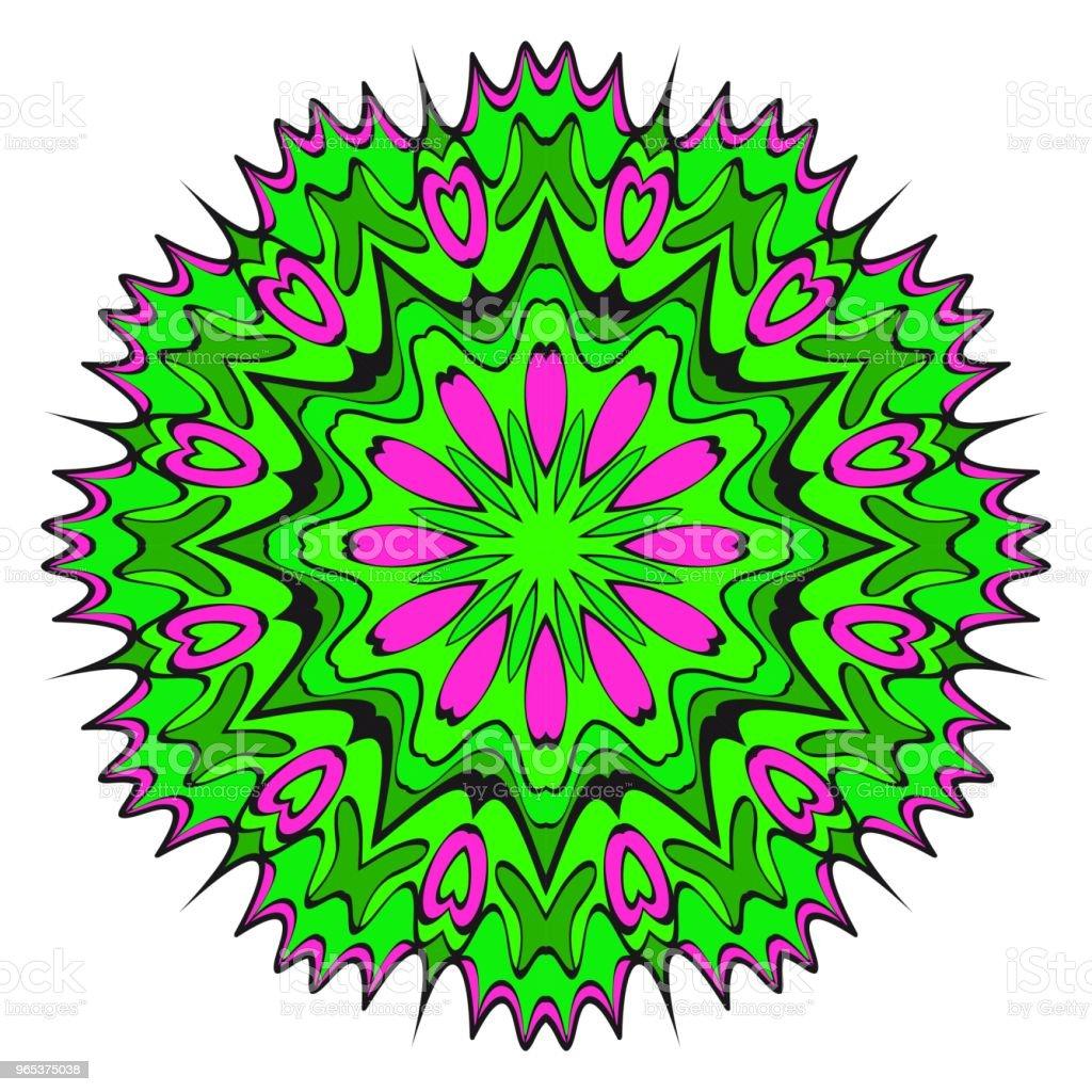 Circle pattern. Hand draw Mandala. Decorative elements. vector illustration. Anti-stress therapy pattern. circle pattern hand draw mandala decorative elements vector illustration antistress therapy pattern - stockowe grafiki wektorowe i więcej obrazów abstrakcja royalty-free