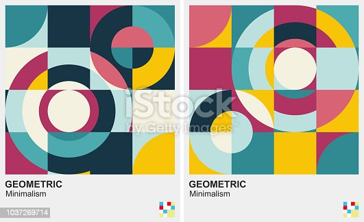 circle pattern minimalism background