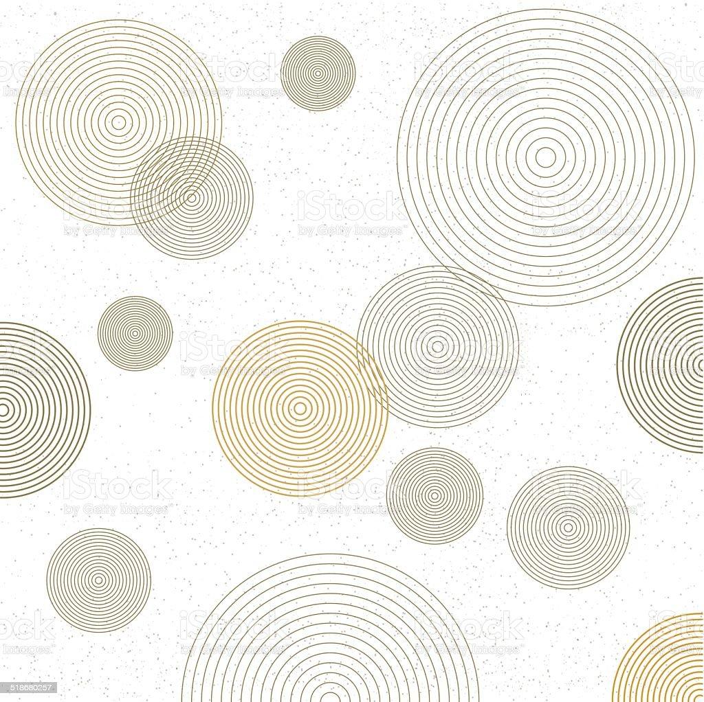 Circle pattern. Modern stylish texture. vector art illustration