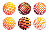 Circle ball pattern, vector illustration graphic