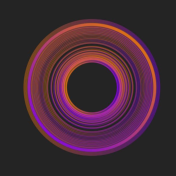 kreis-rosa musik-welle - edm stock-grafiken, -clipart, -cartoons und -symbole