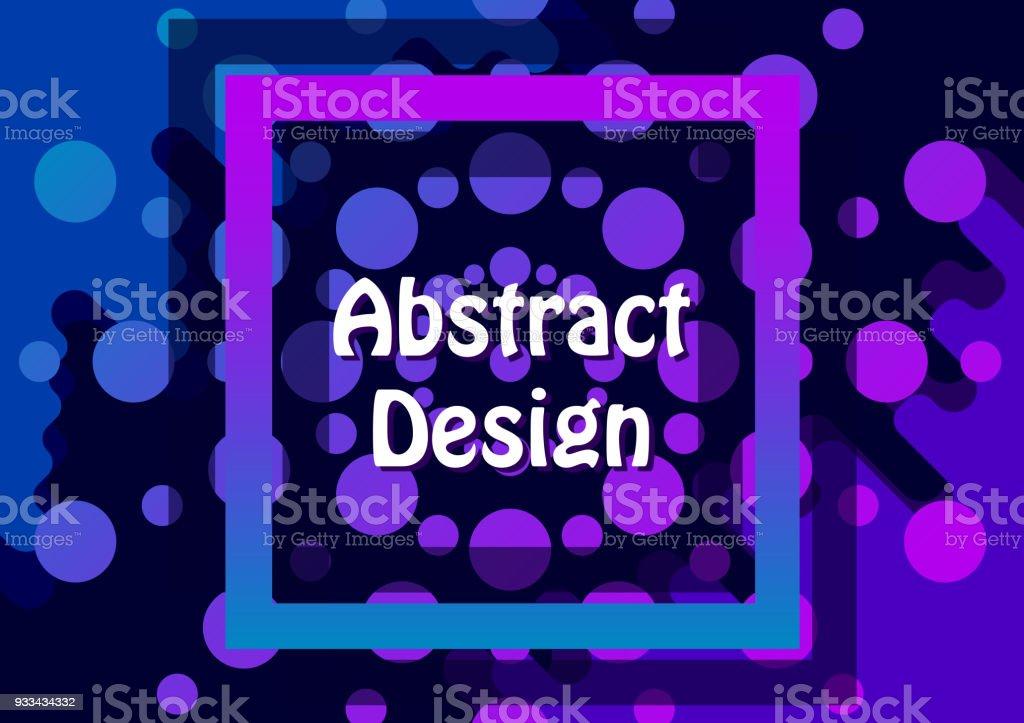 Círculo Pez Patrón Color Púrpura Marco Y Fondo - Arte vectorial de ...