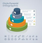 Circle or oval pyramid infographic concept with space for your copy. EPS 10 file. Transparency effects used on highlight elements.