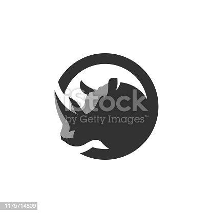 Rhino, Wild Animal Icon