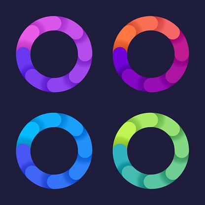 Circle Rotation Gradient Design Elements