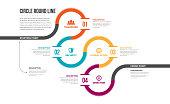 Circle Round Line Infographic