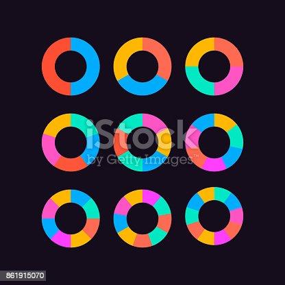 istock circle segments set vector 861915070