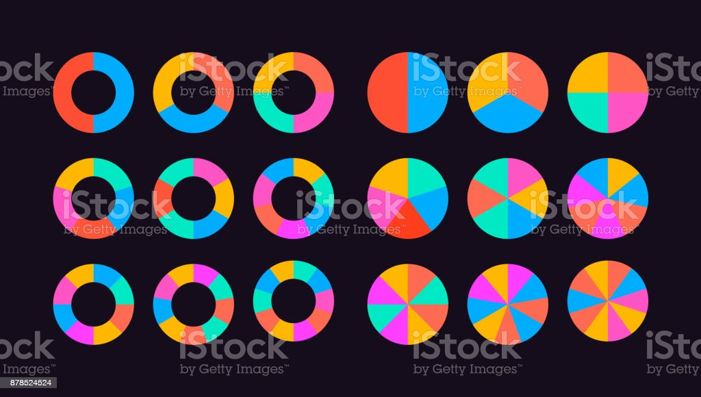 circle segments set vector royalty-free circle segments set vector stock illustration - download image now