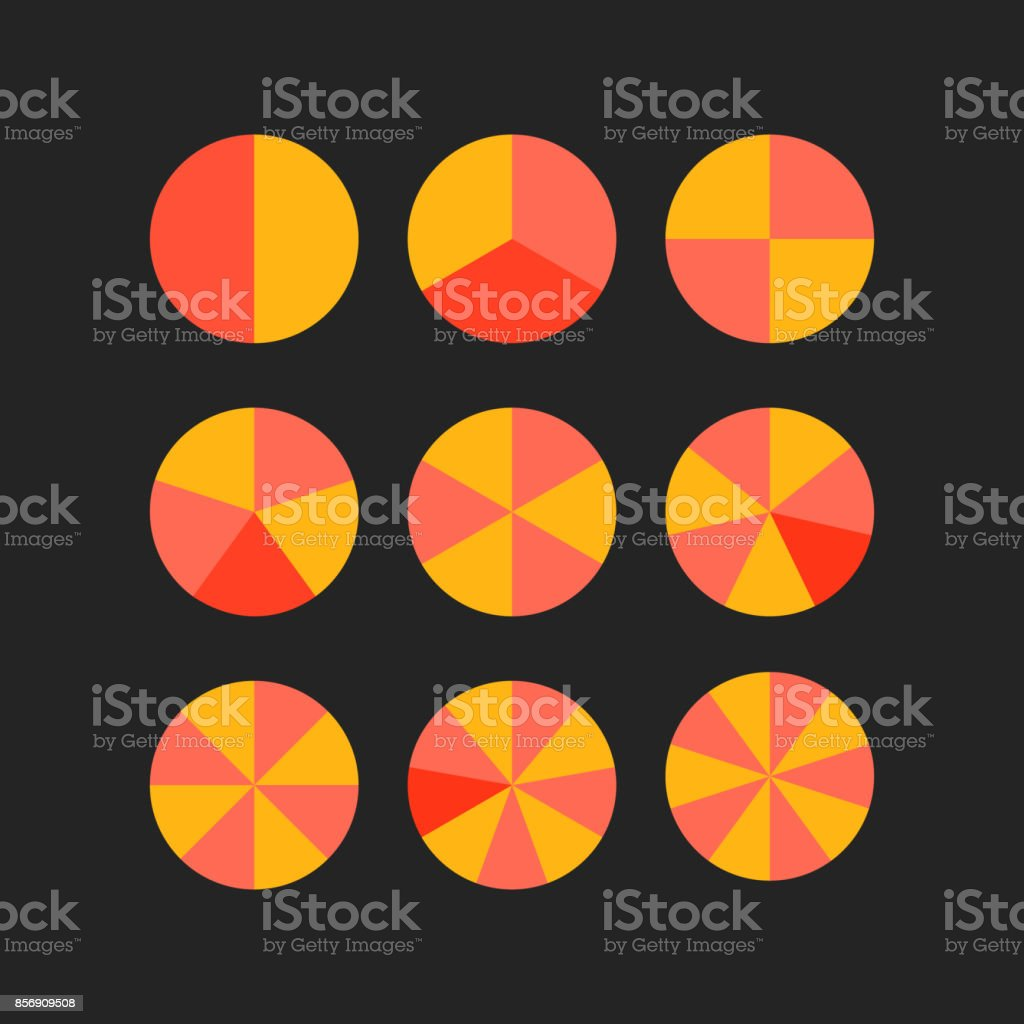 circle segments vector vector art illustration
