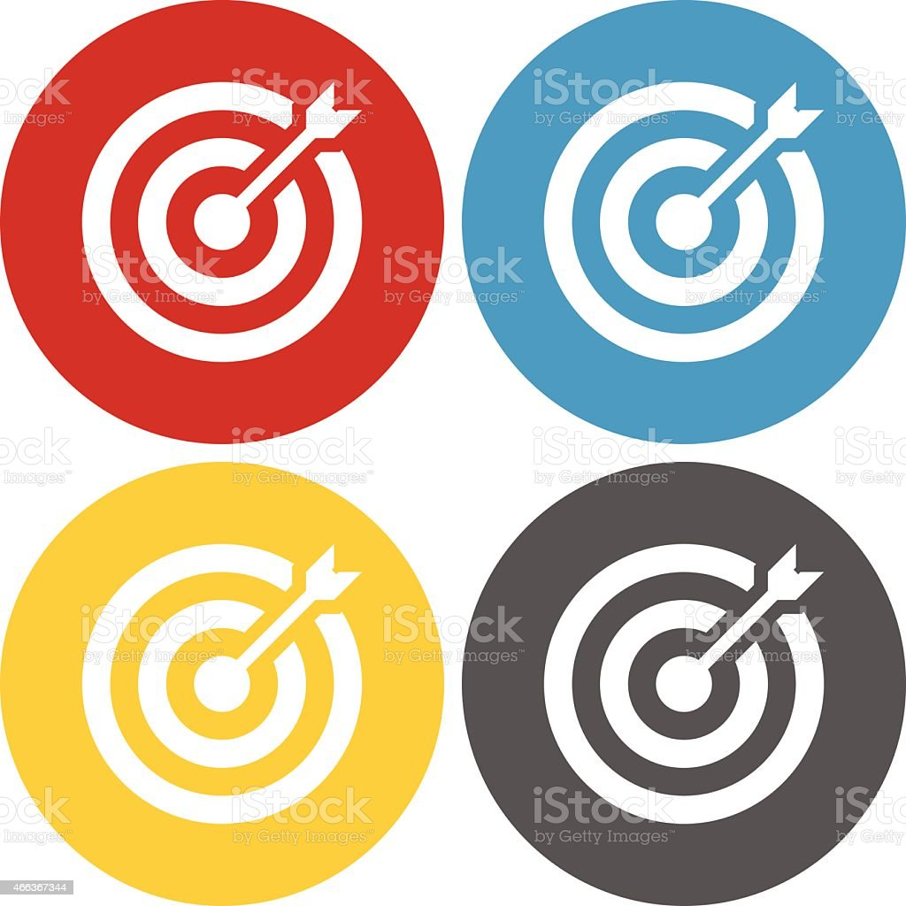 Circle Series Target icon vector art illustration
