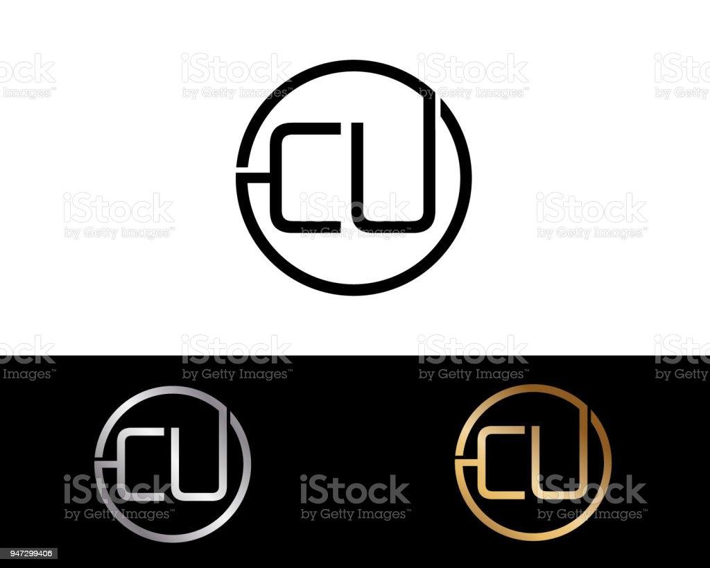 Cu Kreis Briefformdesign Stock Vektor Art Und Mehr Bilder Von