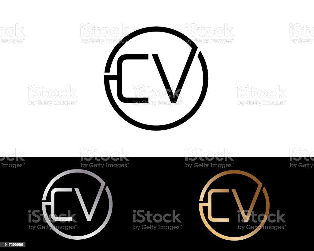 Cv Kreis Briefformdesign Stock Vektor Art Und Mehr Bilder Von