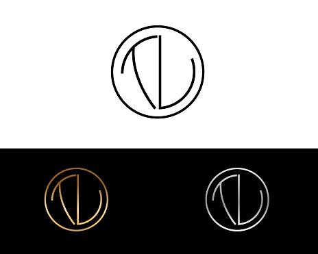 TU Circle Shape Letter Design