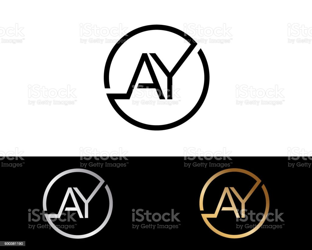Ay Gestalten Kreis Form Briefe Stock Vektor Art Und Mehr Bilder Von