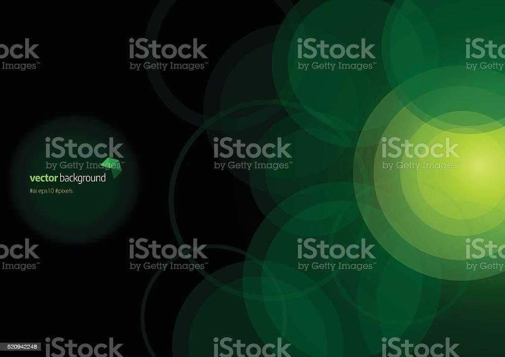 Technologie fond abstrait cercle forme de - Illustration vectorielle